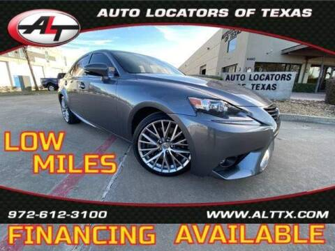 2016 Lexus IS 200t for sale at AUTO LOCATORS OF TEXAS in Plano TX