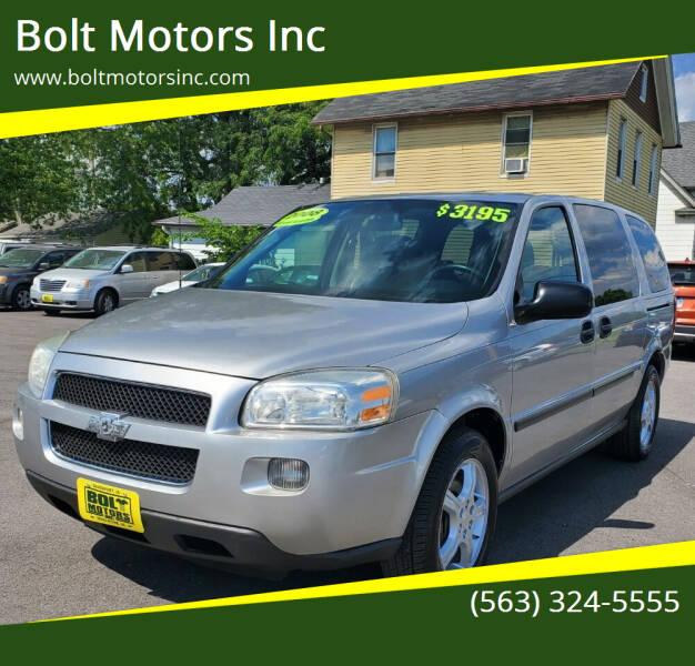 2008 Chevrolet Uplander for sale at Bolt Motors Inc in Davenport IA