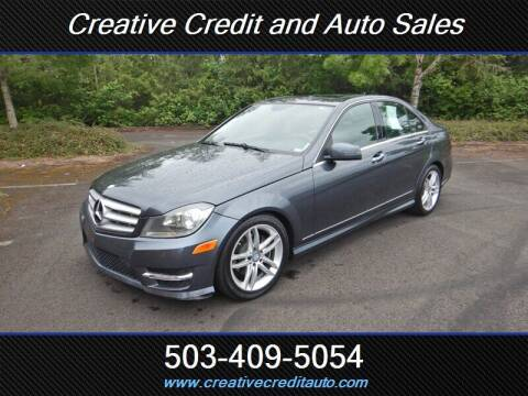2013 Mercedes-Benz C-Class for sale at Creative Credit & Auto Sales in Salem OR