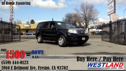 2012 Honda Pilot for sale at Westland Auto Sales in Fresno CA
