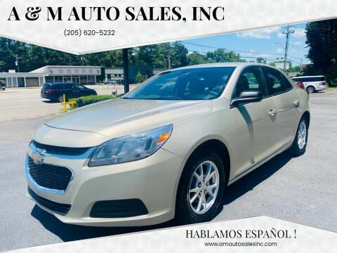 2014 Chevrolet Malibu for sale at A & M Auto Sales, Inc in Alabaster AL