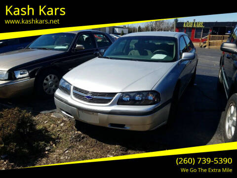 2003 Chevrolet Impala for sale at Kash Kars in Fort Wayne IN