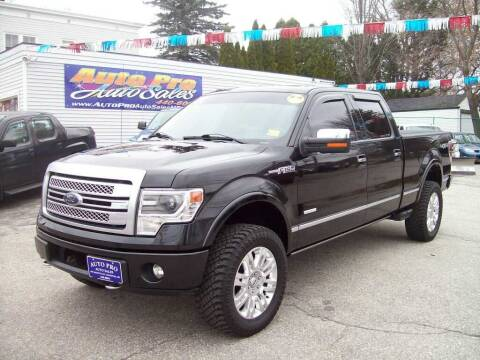2013 Ford F-150 for sale at Auto Pro Auto Sales in Lewiston ME