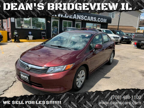 2012 Honda Civic for sale at DEANSCARS.COM in Bridgeview IL