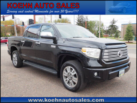 2016 Toyota Tundra for sale at Koehn Auto Sales in Lindstrom MN