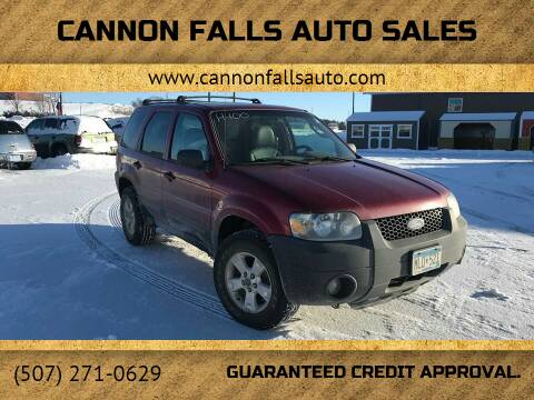 2005 Ford Escape for sale at Cannon Falls Auto Sales in Cannon Falls MN