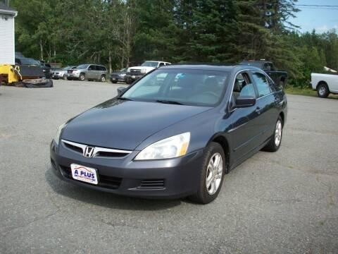 2007 Honda Accord for sale at A-Plus Motors in Alton ME