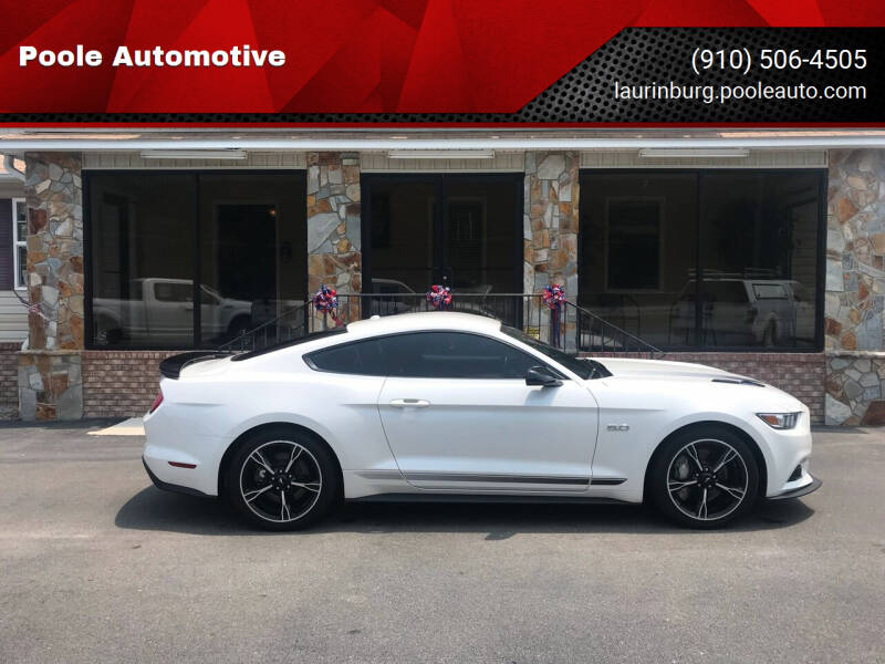 2017 Ford Mustang for sale at Poole Automotive in Laurinburg NC
