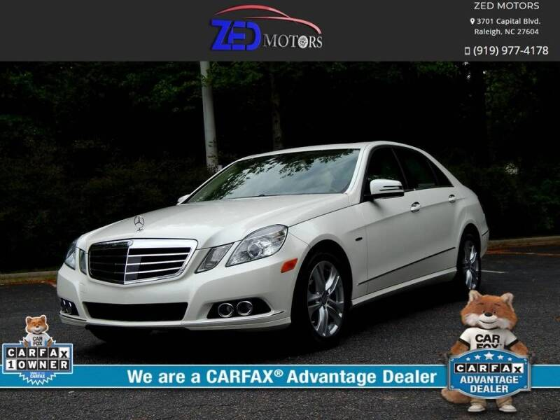 2011 Mercedes-Benz E-Class for sale at Zed Motors in Raleigh NC