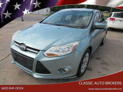 2012 Ford Focus for sale at Classic Auto Brokers in Haltom City TX