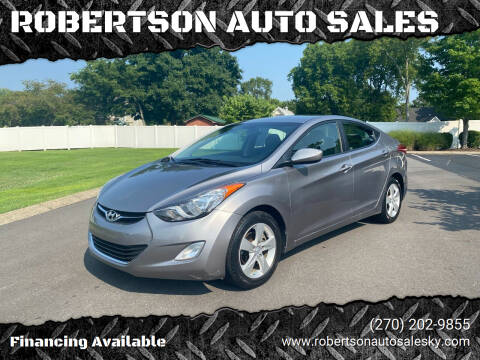 2012 Hyundai Elantra for sale at ROBERTSON AUTO SALES in Bowling Green KY