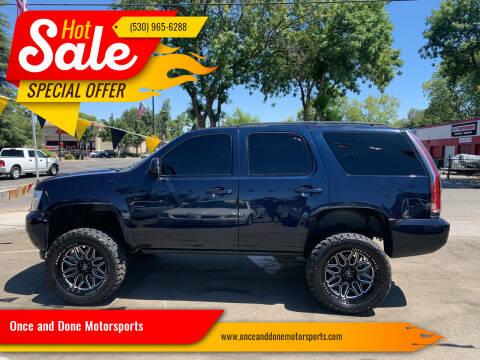 2007 Chevrolet Tahoe for sale at Once and Done Motorsports in Chico CA