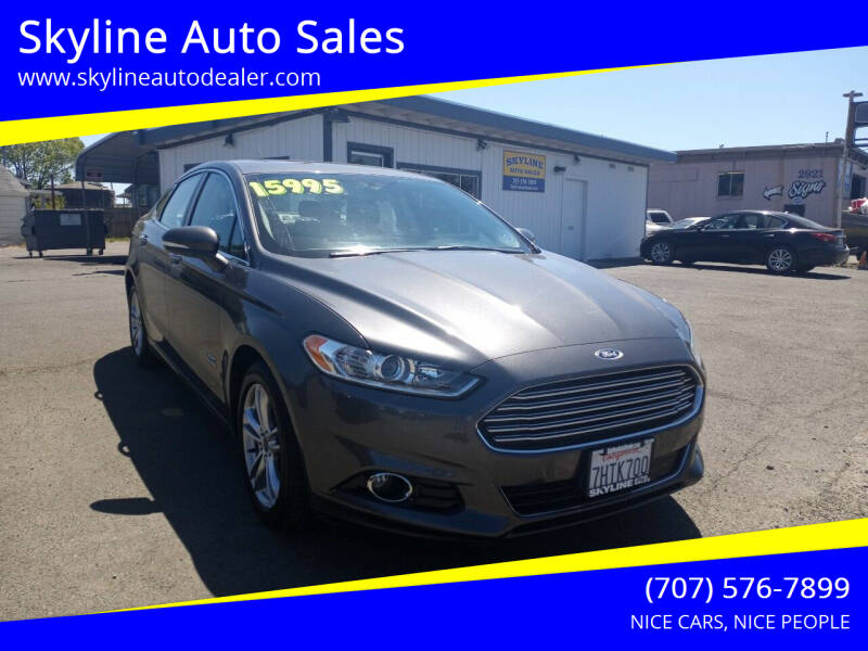 2015 Ford Fusion Energi for sale at Skyline Auto Sales in Santa Rosa CA