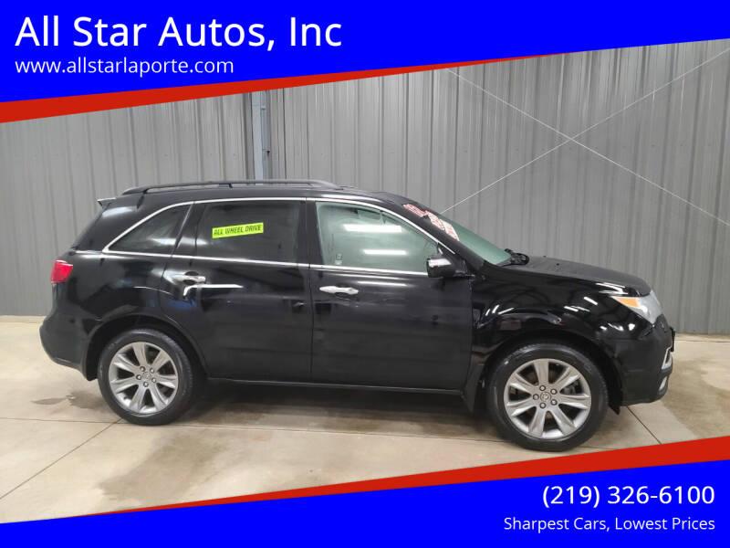 2012 Acura MDX for sale at All Star Autos, Inc in La Porte IN