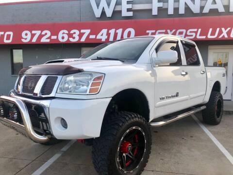2010 Nissan Titan for sale at Texas Luxury Auto in Cedar Hill TX