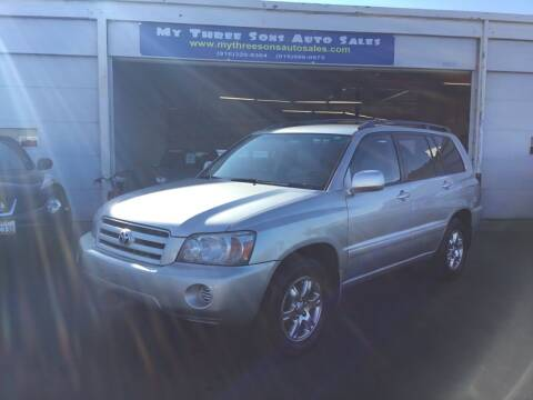 2005 Toyota Highlander for sale at My Three Sons Auto Sales in Sacramento CA