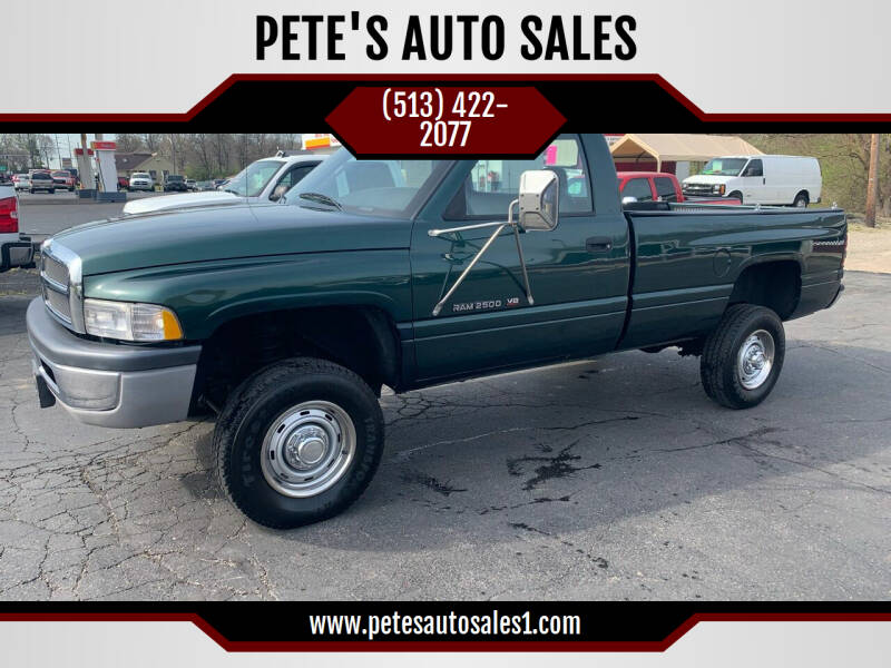 1999 Dodge Ram Pickup 2500 for sale at PETE'S AUTO SALES - Middletown in Middletown OH
