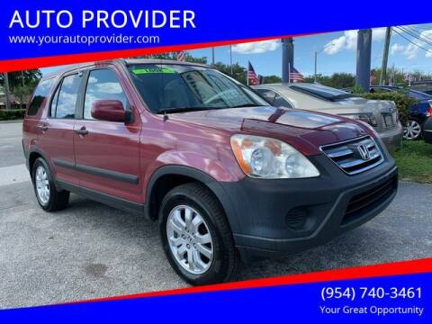 2005 Honda CR-V for sale at AUTO PROVIDER in Fort Lauderdale FL