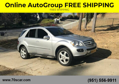 2007 Mercedes-Benz M-Class for sale at Online AutoGroup FREE SHIPPING in Riverside CA