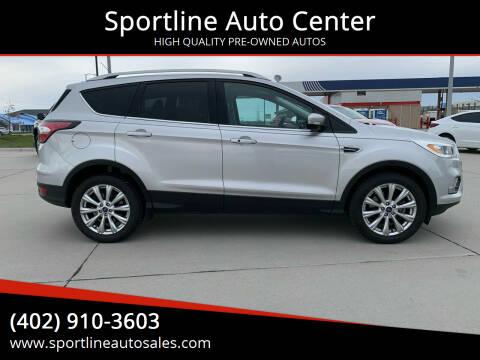 2017 Ford Escape for sale at Sportline Auto Center in Columbus NE