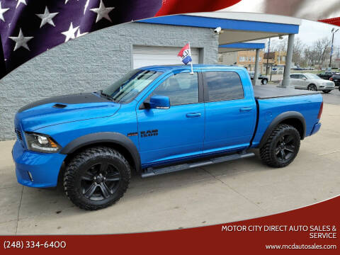 2018 RAM Ram Pickup 1500 for sale at Motor City Direct Auto Sales & Service in Pontiac MI