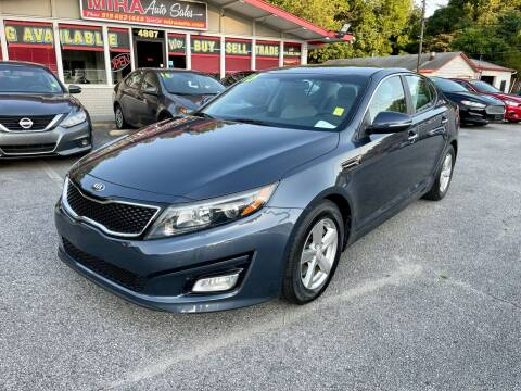 2015 Kia Optima for sale at Mira Auto Sales in Raleigh NC