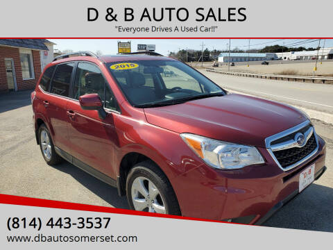2015 Subaru Forester for sale at D & B AUTO SALES in Somerset PA