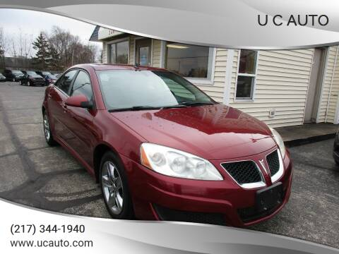 2010 Pontiac G6 for sale at U C AUTO in Urbana IL