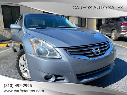 2012 Nissan Altima for sale at Carfox Auto Sales in Tampa FL