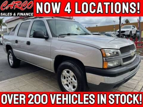 2004 Chevrolet Avalanche for sale at CARCO SALES & FINANCE #3 in Chula Vista CA