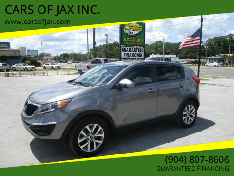 2016 Kia Sportage for sale at CARS OF JAX INC. in Jacksonville FL