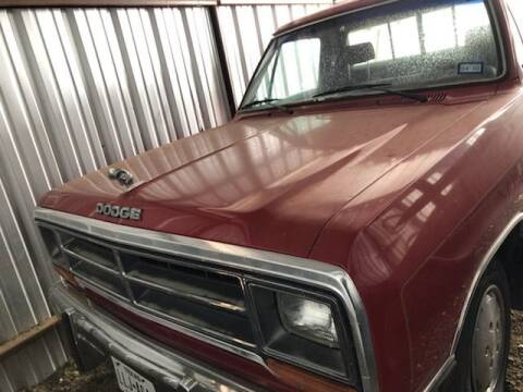 1990 Dodge RAM 150 for sale at CLASSIC MOTOR SPORTS in Winters TX