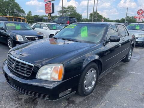 2001 Cadillac DeVille for sale at RJ AUTO SALES in Detroit MI