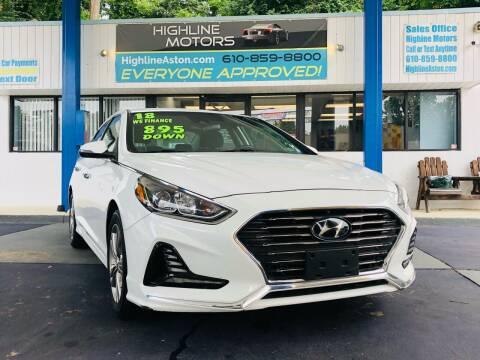 2018 Hyundai Sonata for sale at Highline Motors in Aston PA
