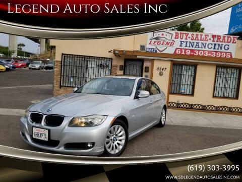 2009 BMW 3 Series for sale at Legend Auto Sales Inc in Lemon Grove CA
