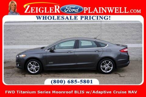 2015 Ford Fusion Energi for sale at Zeigler Ford of Plainwell- Jeff Bishop in Plainwell MI