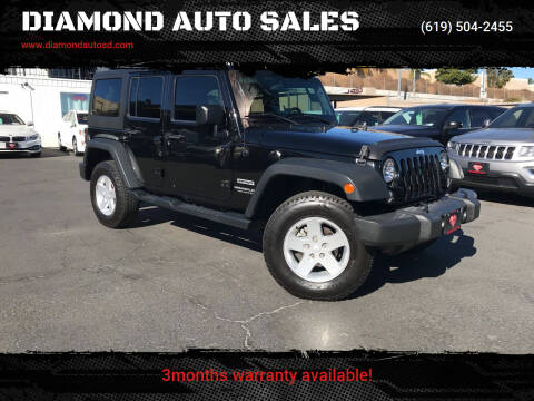 2014 Jeep Wrangler Unlimited for sale at DIAMOND AUTO SALES in El Cajon CA