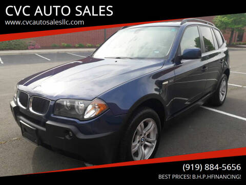 2005 BMW X3 for sale at CVC AUTO SALES in Durham NC