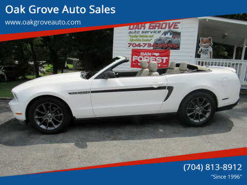 2012 Ford Mustang for sale at Oak Grove Auto Sales in Kings Mountain NC