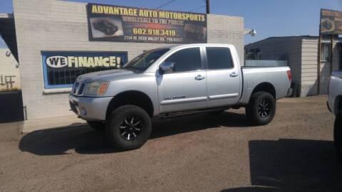 2005 Nissan Titan for sale at Advantage Motorsports Plus in Phoenix AZ