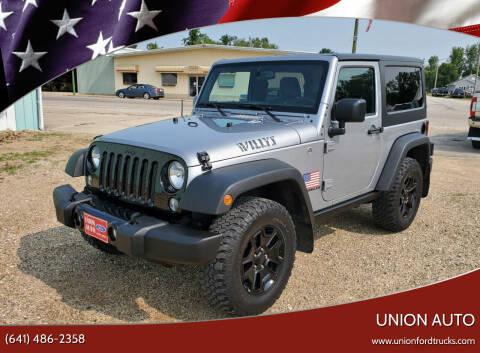 2016 Jeep Wrangler for sale at Union Auto in Union IA