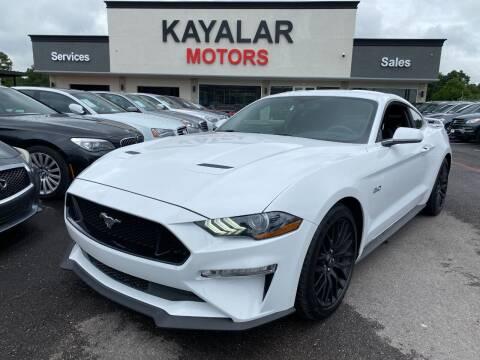 2019 Ford Mustang for sale at KAYALAR MOTORS in Houston TX
