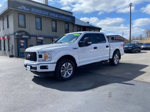 2018 Ford F-150 for sale at Sisson Pre-Owned in Uniontown PA