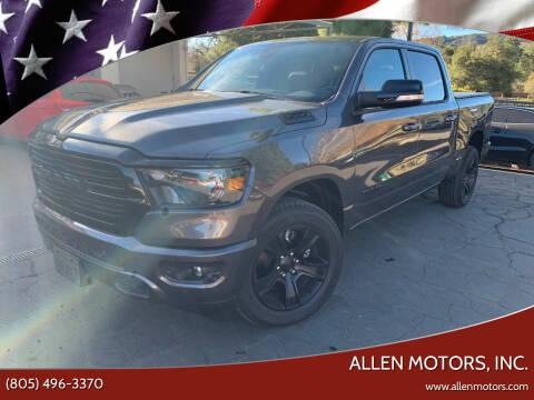 2021 RAM Ram Pickup 1500 for sale at Allen Motors, Inc. in Thousand Oaks CA