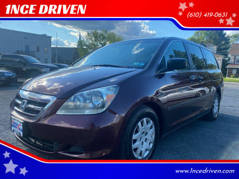 2007 Honda Odyssey for sale at 1NCE DRIVEN in Easton PA