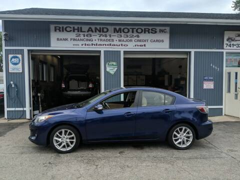 2012 Mazda MAZDA3 for sale at Richland Motors in Cleveland OH