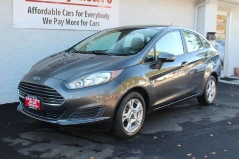 2015 Ford Fiesta for sale at Oak City Motors in Garner NC