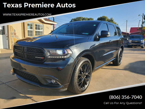 2015 Dodge Durango for sale at Texas Premiere Autos in Amarillo TX