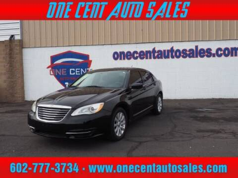 2013 Chrysler 200 for sale at One Cent Auto Sales in Glendale AZ