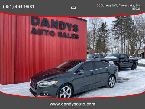 2016 Ford Fusion for sale at Dandy's Auto Sales in Forest Lake MN